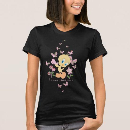 "Tweety ""I Love Nature""Pink T-Shirt"