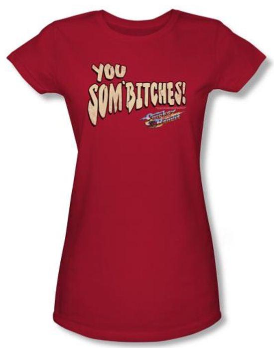 Smokey And The Bandit Juniors T-shirt Movie Sombitch Red Tee Shirt