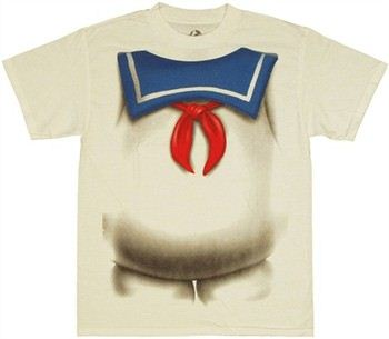 Ghostbusters Stay Puft Marshmallow Man Costume T-Shirt