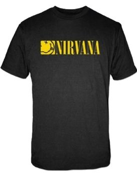 Nirvana Boxed Smile Logo Men's T-Shirt