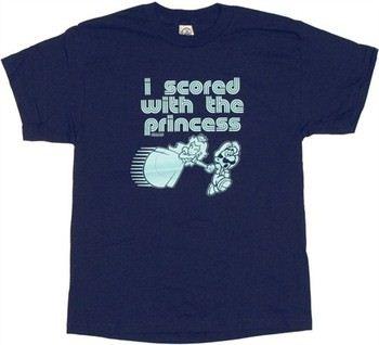 Nintendo Super Mario Luigi I Scored with the Princess T-Shirt