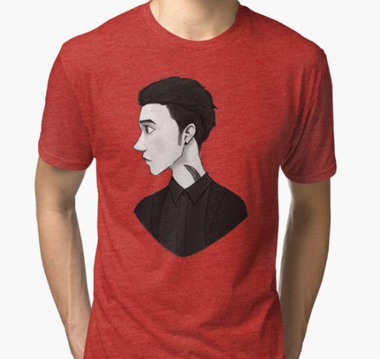 Andy Biersack / Black Tri-blend T-Shirt by ExcuseMe T-Shirt