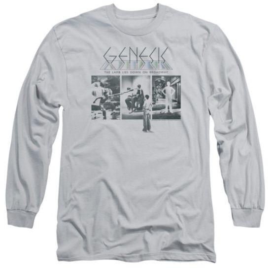 Genesis Long Sleeve Shirt The Lamb Down On Broadway Silver Tee T-Shirt
