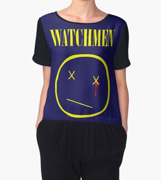 watchmen Women's Chiffon Top by sashakeen T-Shirt