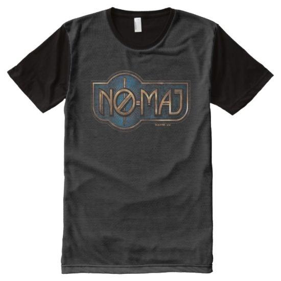 Gold & Marble No-Maj Badge All-Over Print Shirt