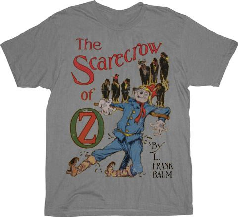 The Wizard of Oz The Scarecrow Silver Gray Mens T-shirt