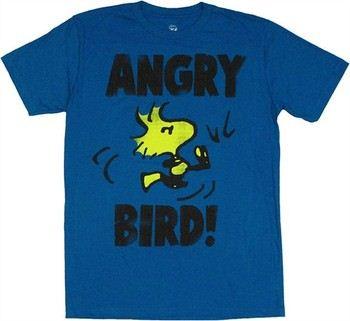 Peanuts Woodstock Angry Bird Kick T-Shirt Sheer