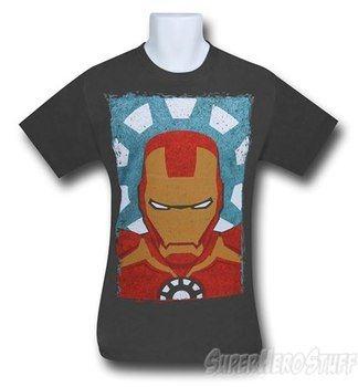 Iron Man Minimal Grey 30 Single T-Shirt
