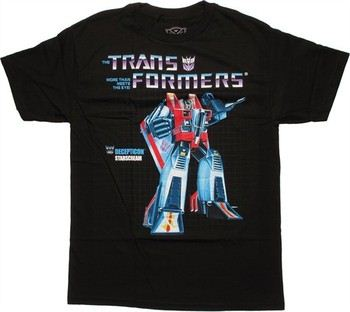 Transformers Starscream G1 Box Art T-Shirt