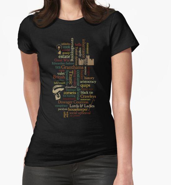 'Downton Abbey Word Mosaic' T-Shirt by dapperc T-Shirt
