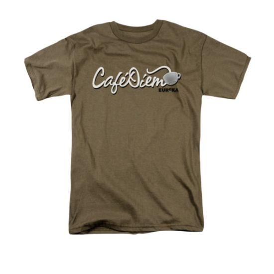 Eureka Shirt Cafe Diem Safari Green T-Shirt