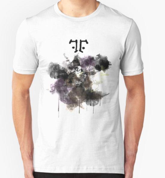 Watchmen- Rorschach Watercolor Portrait T-Shirt by ohfrick T-Shirt