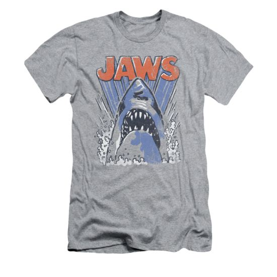 Jaws Shirt Slim Fit Comic Splash Athletic Heather T-Shirt