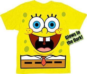 Spongebob Squarepants Jumbo Glow-in-the-Dark Yellow Toddler & Adult T-shirt