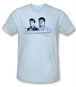 Animal House Slim Fit T-shirt Movie Pledge Adult Light Blue Tee Shirt