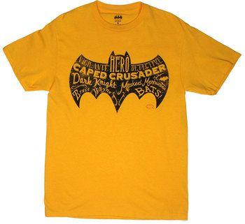 Batman Text Logo - DC Comics T-shirt