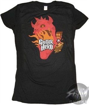 Guitar Hero Devil Black Baby Doll Tee