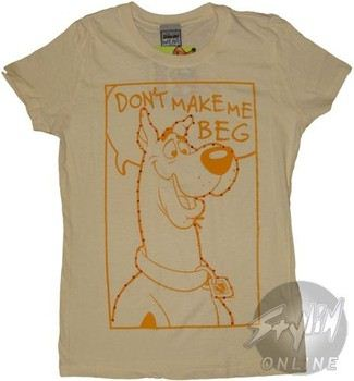 Scooby Doo Don't Make Me Beg Baby Doll Tee
