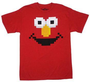 Pixellated Elmo - Sesame Street T-shirt