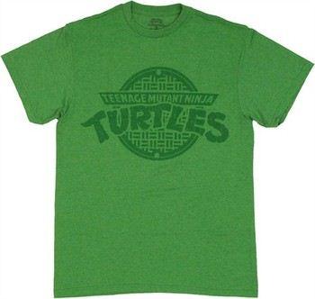 Teenage Mutant Ninja Turtles TMNT Subtle Manhole Logo T-Shirt