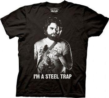 The Hangover Alan I'm A Steel Trap Black Adult T-shirt