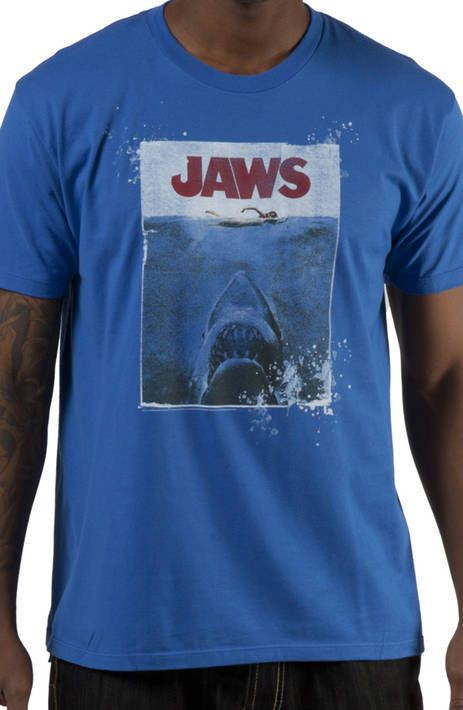 Denim Washed JAWS T-Shirt
