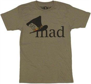 Alice in Wonderland Mad Hatter Hat T-Shirt Sheer