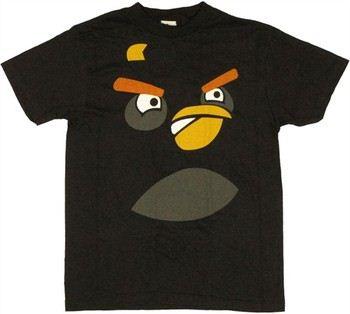 Angry Birds Bomb Bird Face Youth T-Shirt