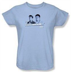 Animal House Ladies T-shirt Movie Pledge Light Blue Tee Shirt