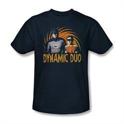 Classic Batman Shirt Dynamic Duo Navy T-Shirt