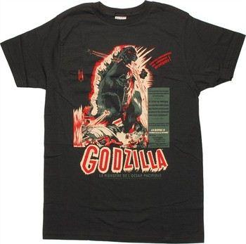 Godzilla French Black T-Shirt Sheer