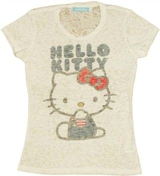 Hello Kitty Name Burnout Baby Doll Tee by MIGHTY FINE