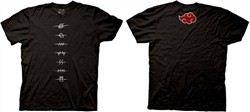 Naruto Shippuden T-shirt Village Symbols Adult Black Tee Shirt