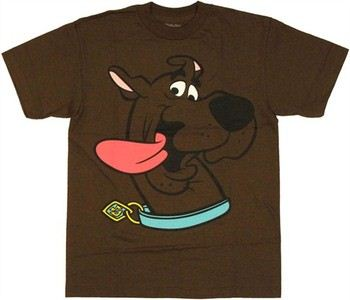 Scooby Doo Head Tongue Hanging Out Youth T-Shirt