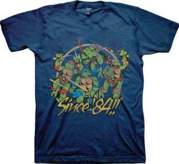 TMNT Teenage Mutant Ninja Turtles Since 84 Adult Navy T-Shirt