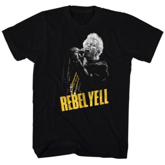 Billy Idol Shirt Rebel Yellow Black Tee T-Shirt