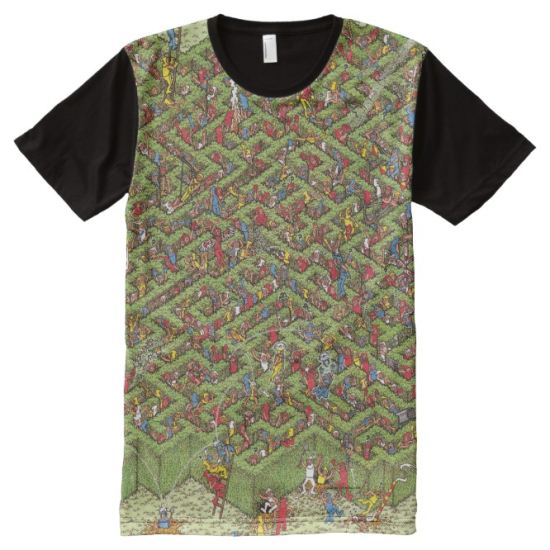 Where's Waldo Great Escape All-Over Print Shirt
