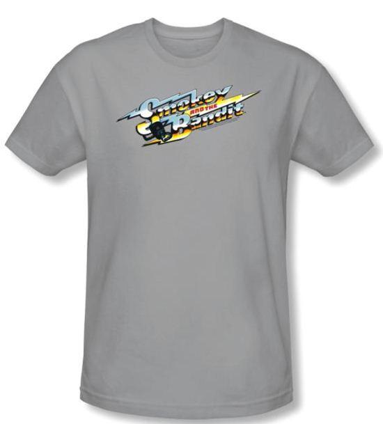 Smokey And The Bandit T-shirt Logo Adult Silver Slim Fit Tee Shirt