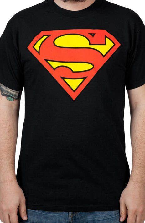 Black Superman Logo Shirt