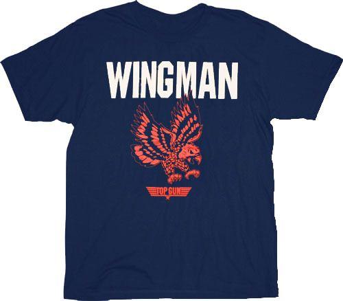 Top Gun Wing Man Eagle Navy Adult T-Shirt