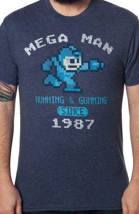 Navy 1987 Mega Man T-Shirt