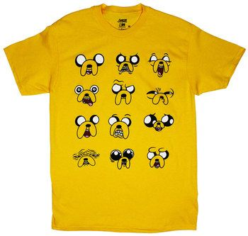Faces Of Jake - Adventure Time T-shirt