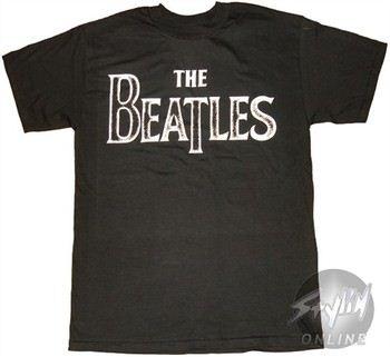 Beatles Name Stencil Music T-Shirt