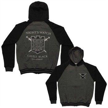 Game of Thrones Night's Watch Oath Castle Black Full Zipper Hooded Sweatshirt