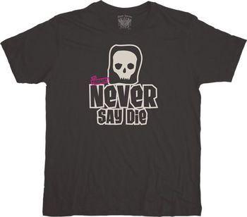 The Goonies Never Say Die Simple Skull Black T-shirt