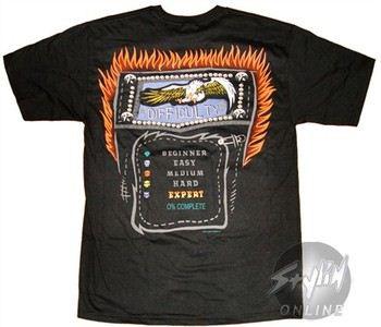Guitar Hero Difficulty Screen T-Shirt