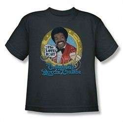 The Love Boat Shirt Kids Booze Cruise Charcoal T-Shirt