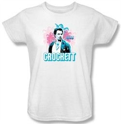 Miami Vice Ladies T-shirt James Crockett White Tee Shirt
