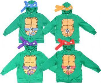 TMNT Teenage Mutant Ninja Turtles Boys Costume Zip Hoodie Sweatshirt