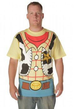 Toy Story Woody Cowboy Costume Banana Yellow Adult T-shirt